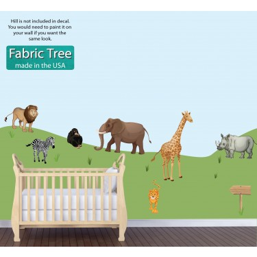 Childrens Bedroom Murals With Jungle Animal Decals For Boys Rooms