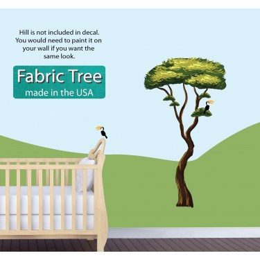 Big Decals With Jungle tree Decals For Play Rooms