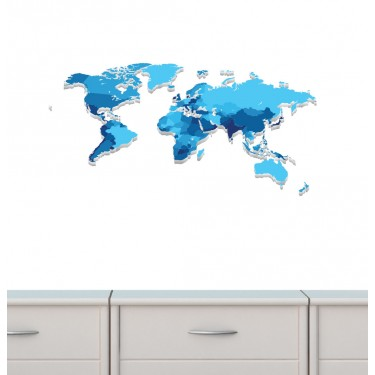 World Map Wall Decals For Boys Bedrooms