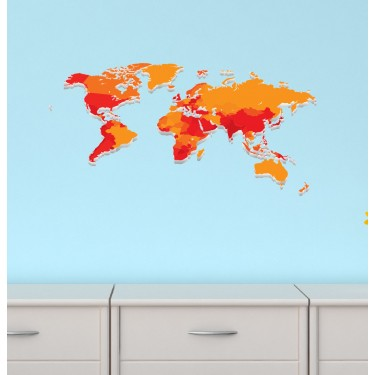 World Map For Boys Bedrooms