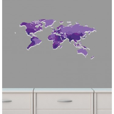 Mini purple world map wall decal for girls room removable wall decals nursery world map wall sticker gumiabroncs Image collections
