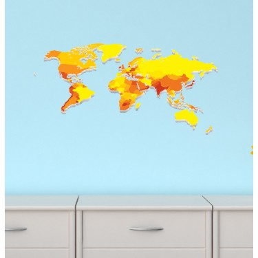 Childrens Bedroom Murals With World Map Wall Stickers For Boy Rooms