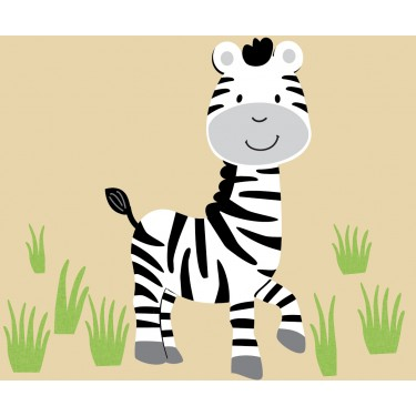 Grass and Zebra Wall Decals For Kids
