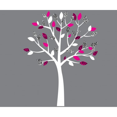 Small Pink and Black Wall Decal Tree Nursery For Girls
