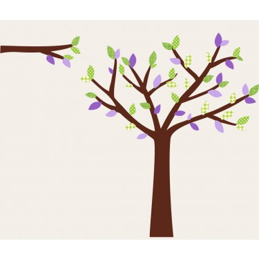 Purple and Green Wall Decal Tree Nursery For Girls Bedrooms