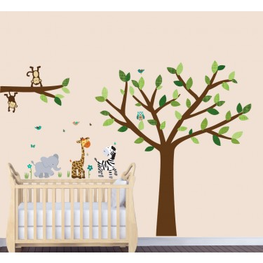 Jungle Wall Art For Nursery With Giraffe Wall Decor For Boys