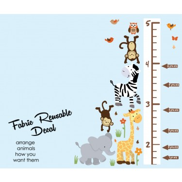 Zoo Wall Stickers With Wall Growth Charts For Children