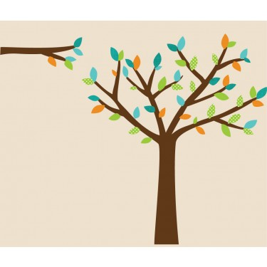 Teal Wall Stickers Tree For Play Rooms
