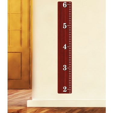 Cherry Wooden Ruler Wall Growth Chart For Play Rooms