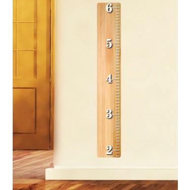 Maple Wooden Ruler Wall Art With Height Wall Chart For Children