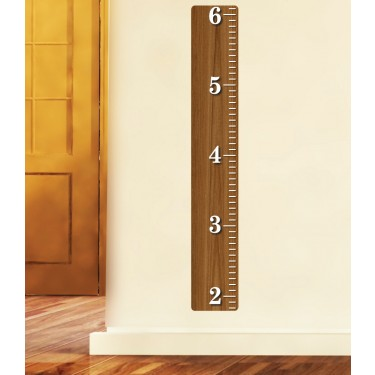 Teak Growth Chart Decals For Kids Rooms