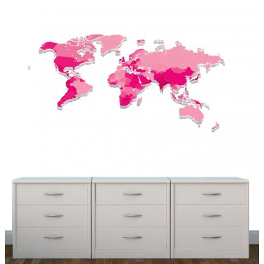 Realistic Wall Stickers For Kids Bedrooms & World Map Decals For Children