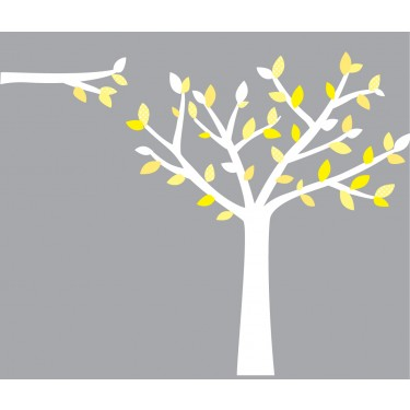 Yellow and Grey Tree Decals For Nursery Wall For Play Rooms