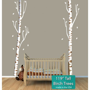 Birch Stickers and Tree Wall Decals For Nursery or Baby Room