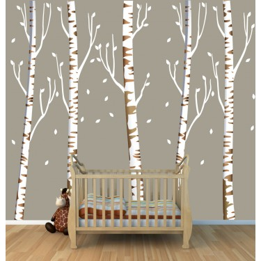 Birch Tree Wall Stickers Tree For Girls Rooms