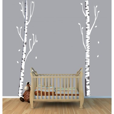 Custom Birch Tree Wall Art and Tree Wall Decor For Play Rooms