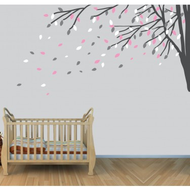 Corner Branch Wall Decals Tree For Play Rooms