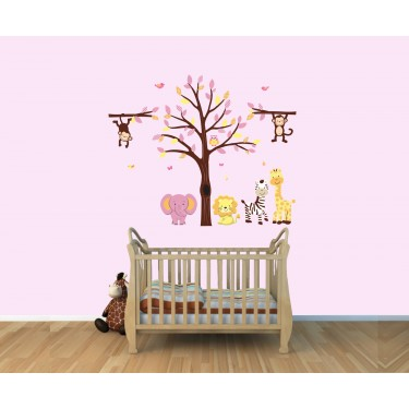 Jungle Theme Wall Decals With Elephant Wall Decals For Play Rooms