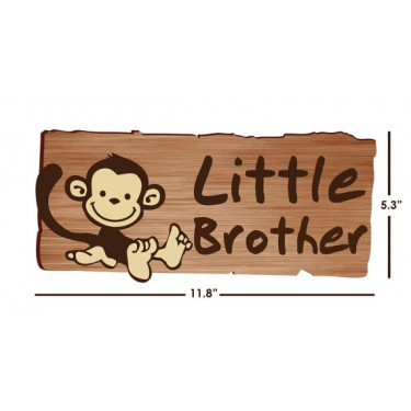 Little Brother Door Decals with Monkeys Stickers For Boys
