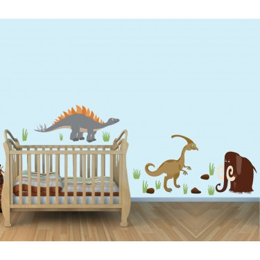 Big Wall Decals With Dinosaur Wall Art For Children