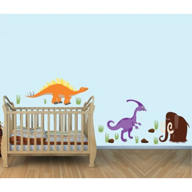 Colorful Giant Wall Graphics & Dinosaur Wall Stickers For Play Rooms