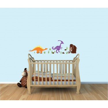 Children's Bedroom Wall Stickers With Dinosaur Wall Stickers For Kids