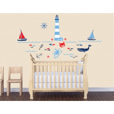 Large Wall Decals With Nautical Wall Decals For Kids Rooms