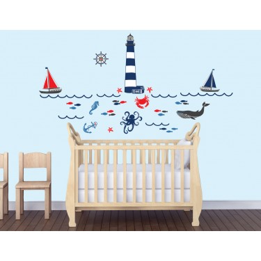 Bedroom Wall Stickers With Sea Decals For Kids