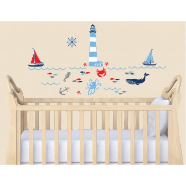 Peel And Stick Wall Decals & Sea Life Wall Decals For Nursery Room