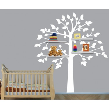 Shelving Tree Wall Decal For Children