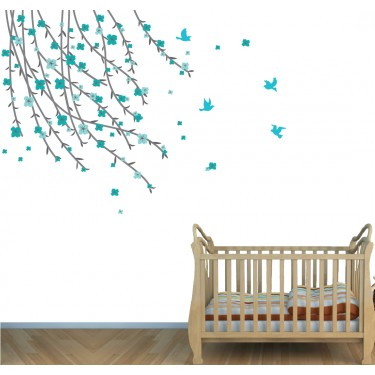 Flowering Branch Wall Decal For Girls