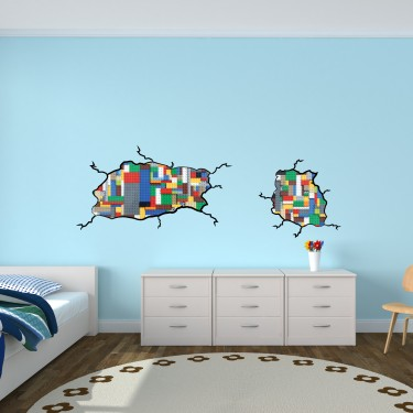 kids wall stickers for bedrooms, inspiredlego wall decals for
