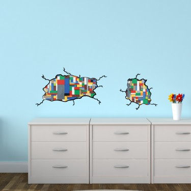 Reusable Wall Decals With Lego Car Wall Stickers For Children