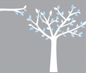 Baby Blue Wall Decals Tree For Play Rooms