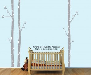 Birch Tree Wall Decals and Birch Tree Wall Decor For Bedrooms