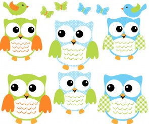 Colorful Owl Art For Kids With Bird Wall Decals For Children