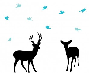 Forest Nursery Wall Decals With Deer Wall Decal For Home Decor