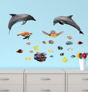 Reusable Wall Stickers With Sharks Sticker For Children