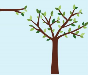 Green Tree Decals For Nursery For Nursery Or Baby Room