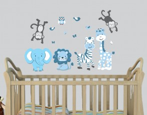 Wall Decals Jungle With Wall Sticker Giraffe For Kids Rooms