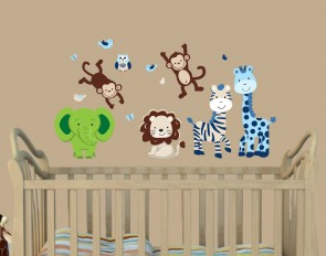 Green Safari Wall Decals For Children