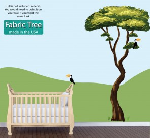 Reusable Wall Stickers With Drawn Jungle Tree Sticker For Children
