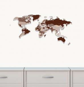 Giant Wall Stickers With World Map Wall Stickers