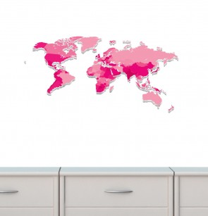 Big Wall Decals With World Map Decals For Children