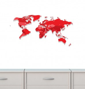 Large Wall Decal of World Map Wall Murals For Play Rooms