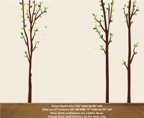 Green Nature Tree Wall Decals