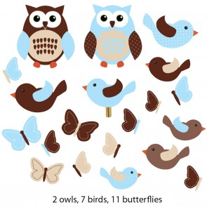 Owl Stickers For Play Rooms