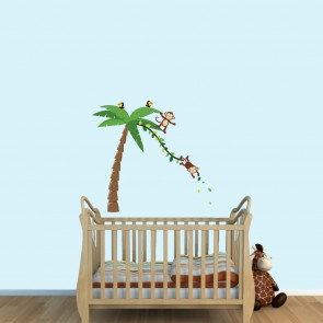 Giant Wall Stickers With Monkey Palm Tree Wall Stickers