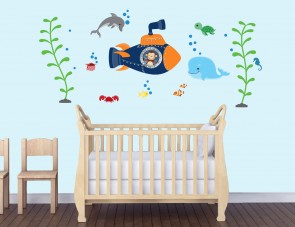 Children's Bedroom Wall Stickers & Under The Sea Wall Decals For Kids
