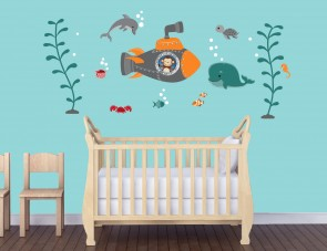 Wall Stickers Giant With Ocean Wall Murals For Play Rooms